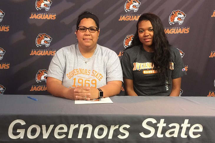 (L-R): Assistant Coach Margo Rodriguez and Courtnei Johnson