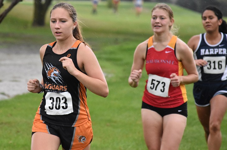 Junior Amy Miller led the Jaguars across the finish line on Friday