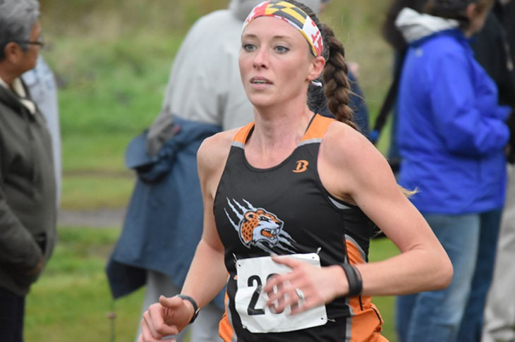 Stephanie Clarkson won GSU's first individual race on Saturday