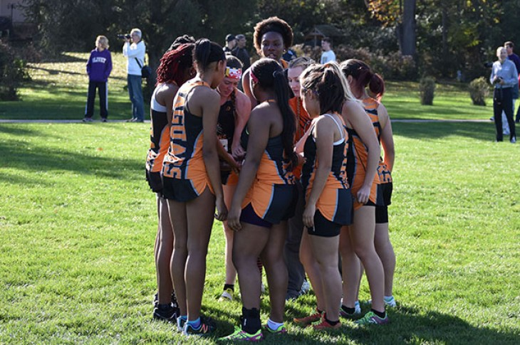 The Jaguars huddle prior to the CCAC Championship race.